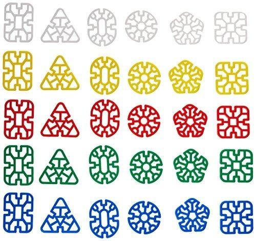 childcraft 077980 bloques de plástico chino, 2, colores surt