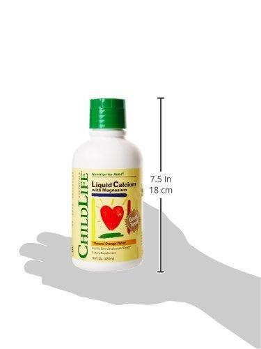 childlife liquid calcium with magnesium 474ml naranja
