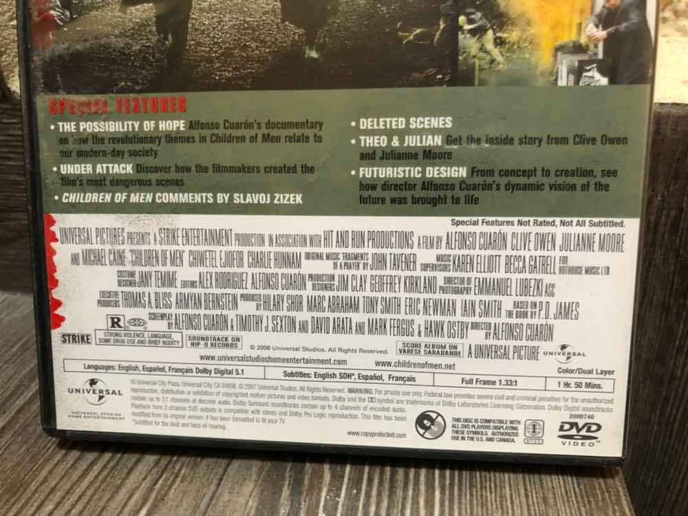 Children Of Men Hijos Del Hombre Clive Owen Alfonso Cuarón - $ 85 00