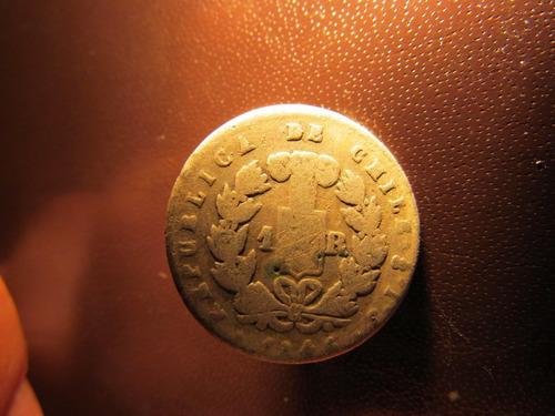 chile 1 real de plata 1846 hecha boton.
