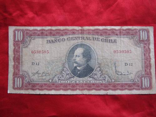 chile 10 escudos molina - ibañez