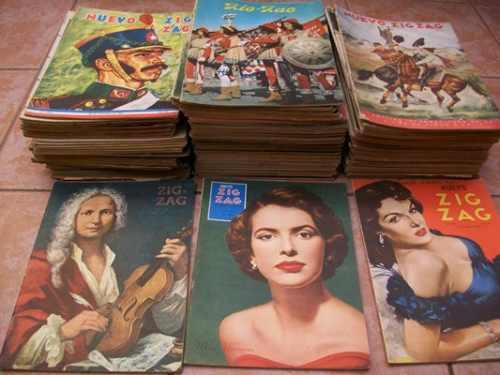 chile, antiguas revistas zig - zag entre 1920 y 1965