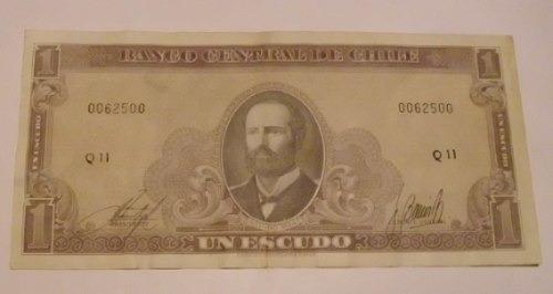 chile: billete de 1 escudo-casi no circulado