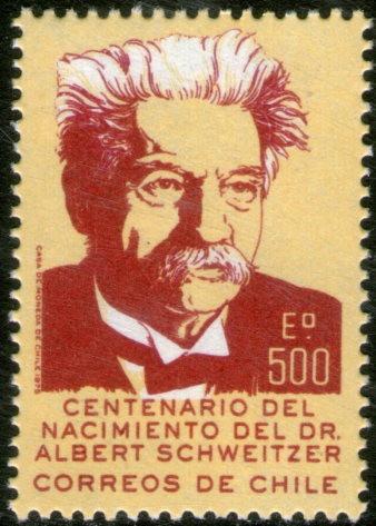 chile sello mint dr. a. schweitzer, médico misionero 1975