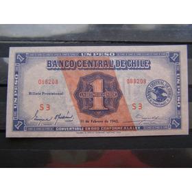 Chile Un Peso De 1942, Sin Circular