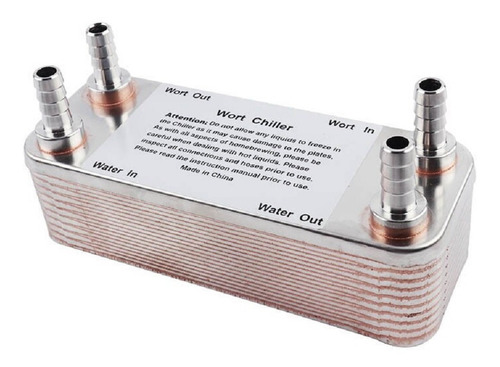 chiller trocador de calor 20 placas inox com conexões