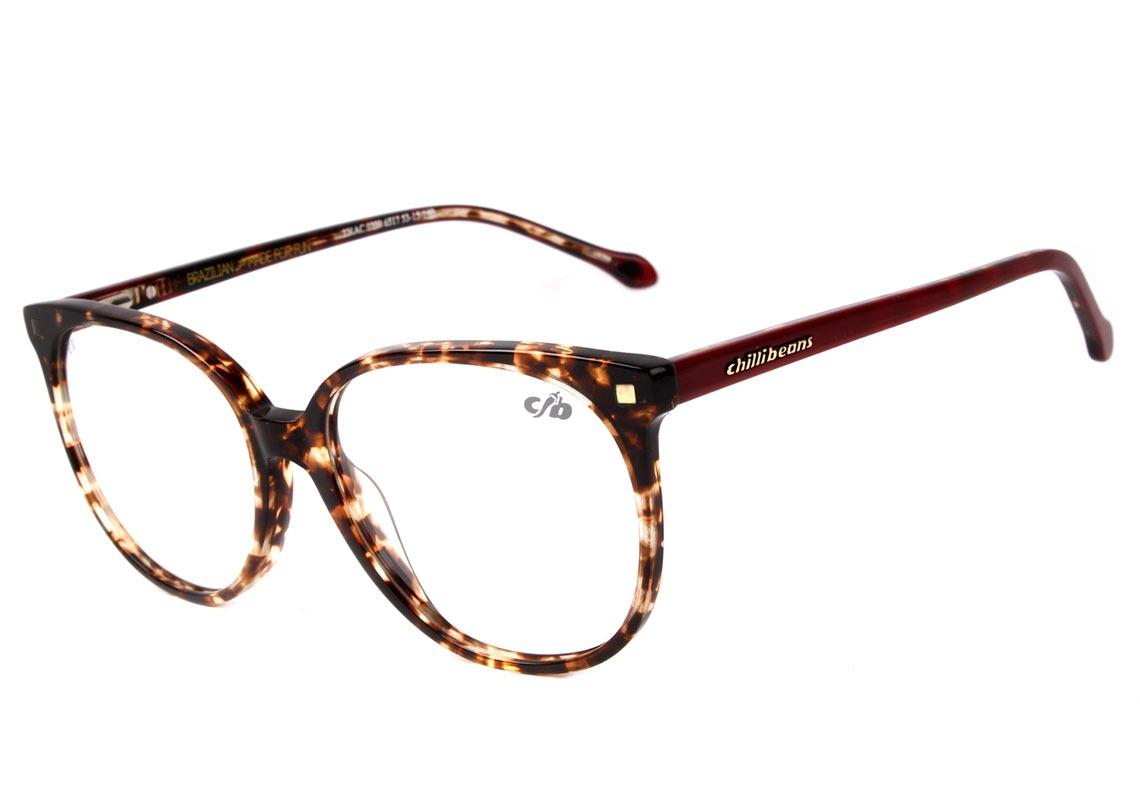 e851d9a2e Chilli Beans Lv.ac 0399 - Óculos De Grau 6517 Marrom - R$ 299,80 em ...