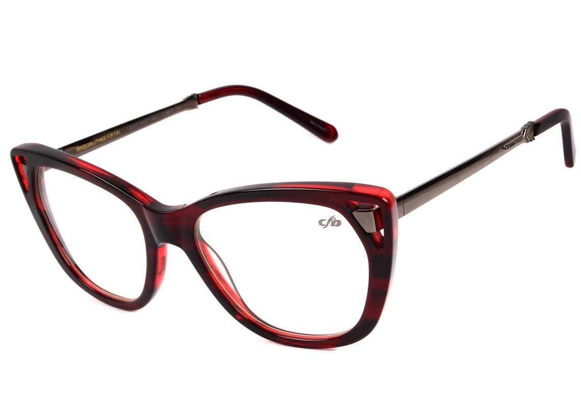 06884d8bf chilli beans lv.ac 0437 - óculos de grau 1622 vermelho. Carregando zoom.