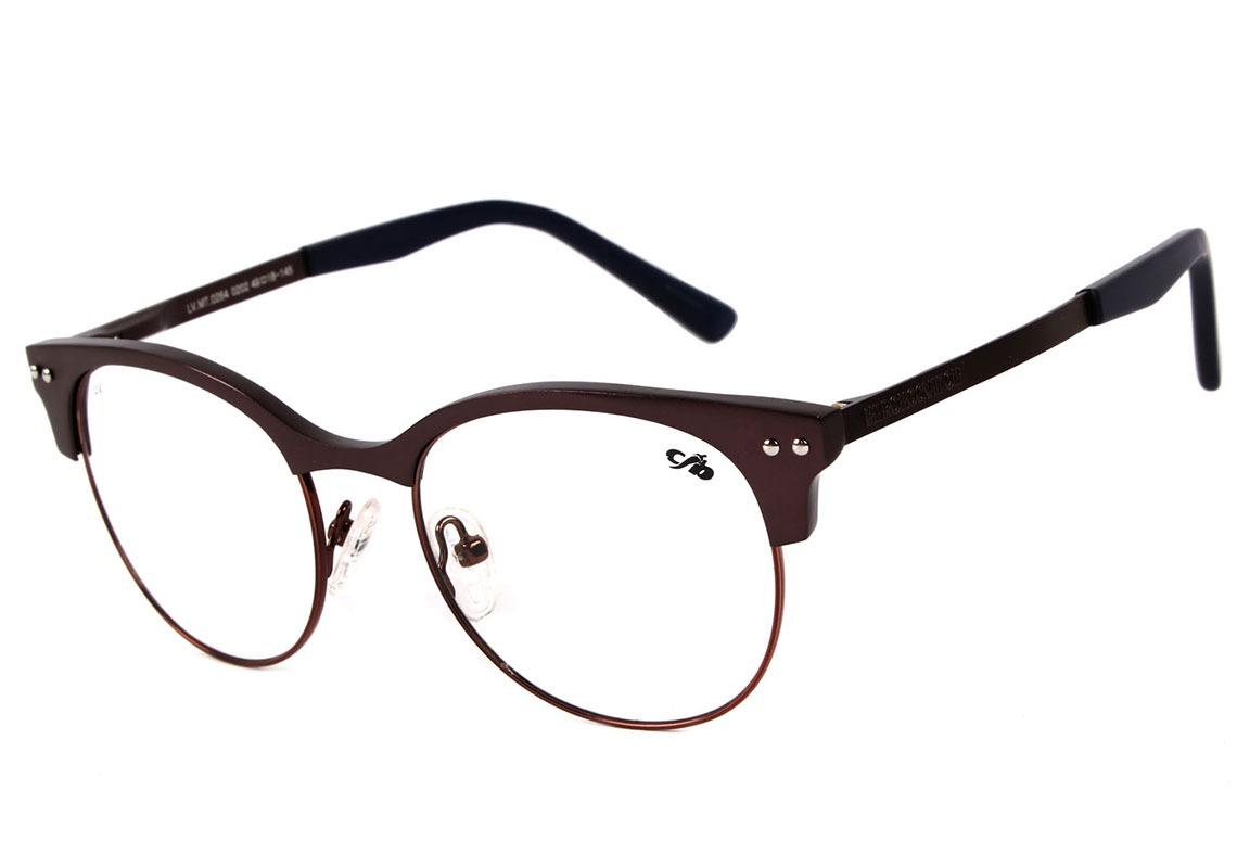 Chilli Beans Lv.mt 0264 - Óculos De Grau 0202 Marrom E Azul - R  197 ... 7c2f2a69f6