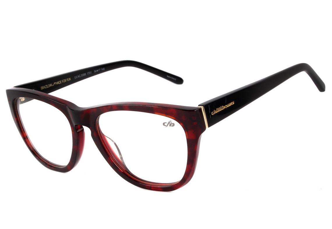 Chilli Beans Lv.ac 0398 - Óculos De Grau 1701 Vermelho E - R  129,90 ... 0aadec4dcd