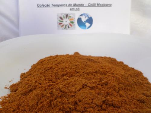 chilli mexicano em pó 100 gramas frete carta registrada