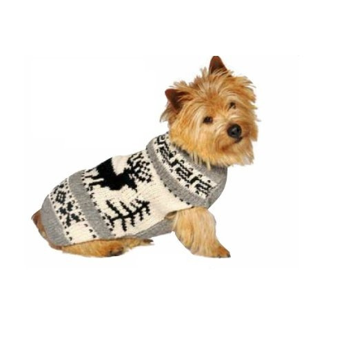 chilly dog reindeer chal dog sweater xlarge