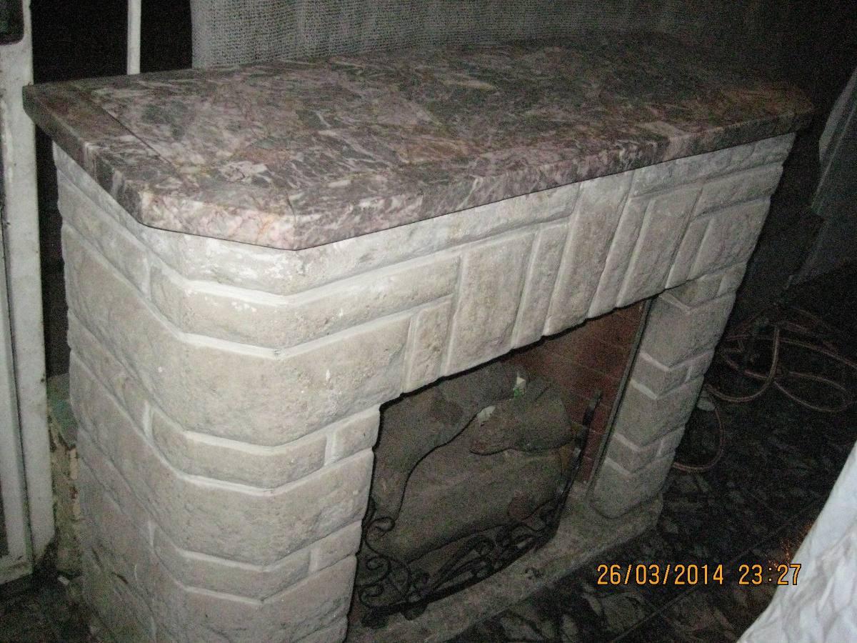 Chimenea a gas le os de marmol for Cubiertas de marmol chile