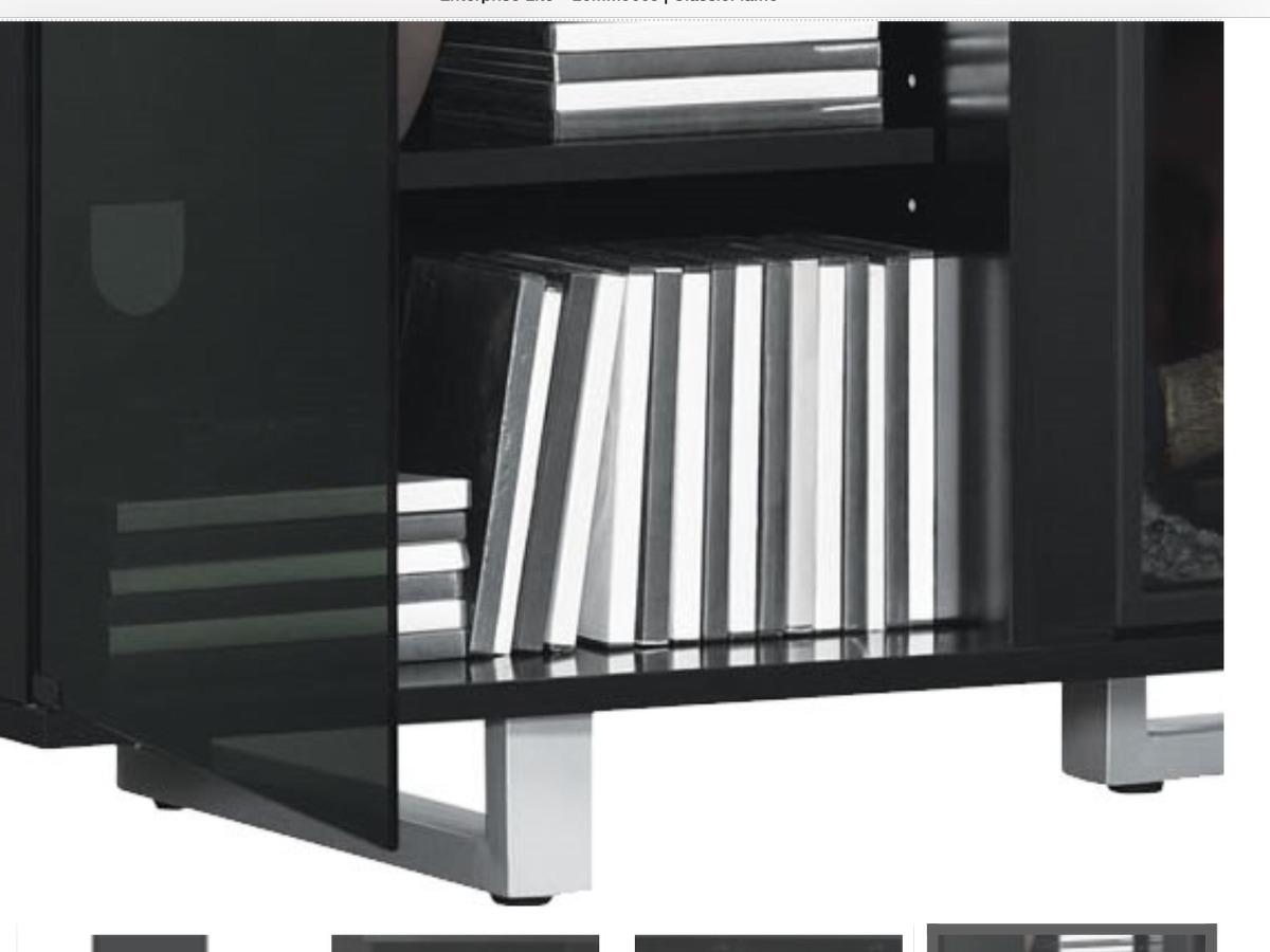 Chimenea con mueble para tv y componentes electr nicos 1 - Chimeneas electricas con mueble ...