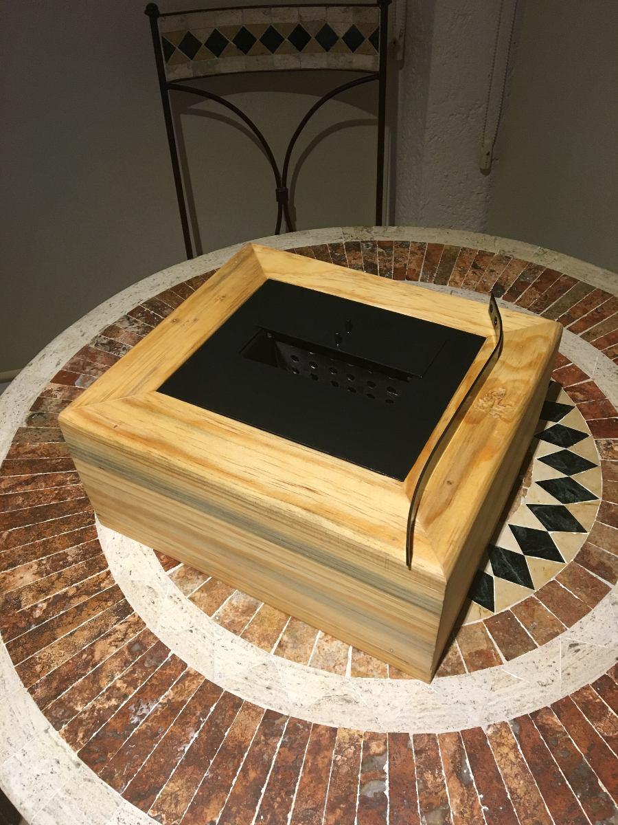 Chimenea de alcohol etanol caj n de madera pino 1 500 for Chimeneas de alcohol