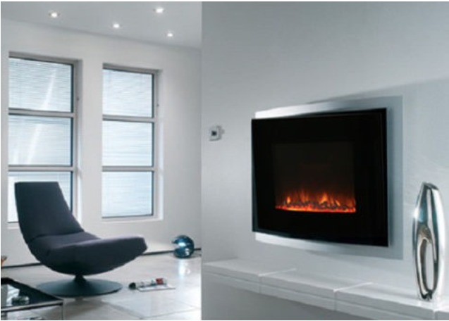 Chimenea electrica calefactor decoracion minimalista - Decoracion chimeneas electricas ...
