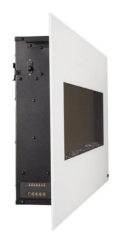 chimenea eléctrica de pared 50 pulg. blanca control remoto
