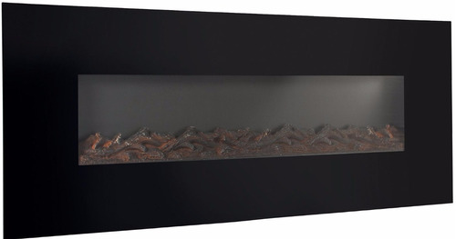 chimenea electrica de pared 50 pulgadas fondo leñas