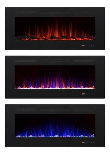 chimenea eléctrica empotrable 50 pulgadas fondos colores