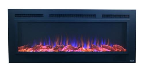 chimenea eléctrica empotrable 50p pantalla acero efecto real