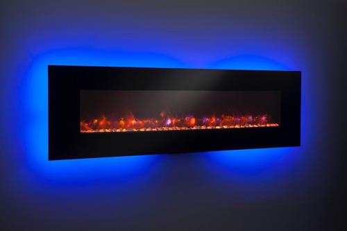 chimenea eléctrica empotrables de 55 pulgadas multicolor