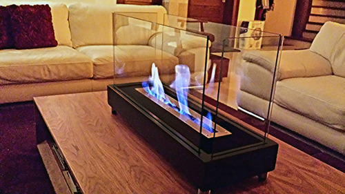 chimenea etanol cuadrada glass especial