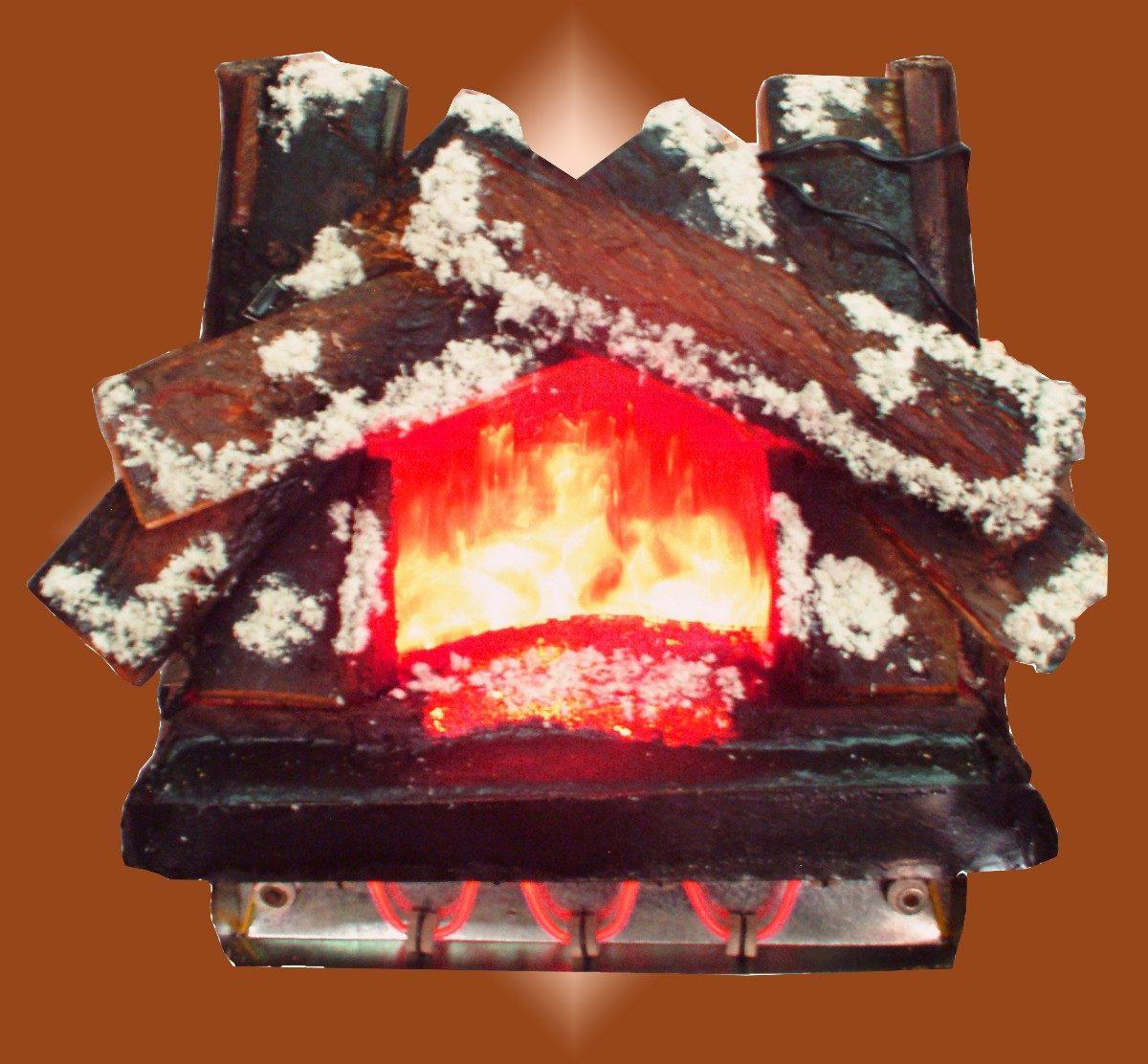 Chimenea fogata para chimenea el ctrica con calefacci n for Chimeneas electricas baratas