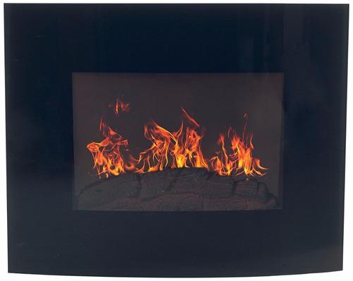 chimenea pared calefactor eléctrica decoracion minimalista