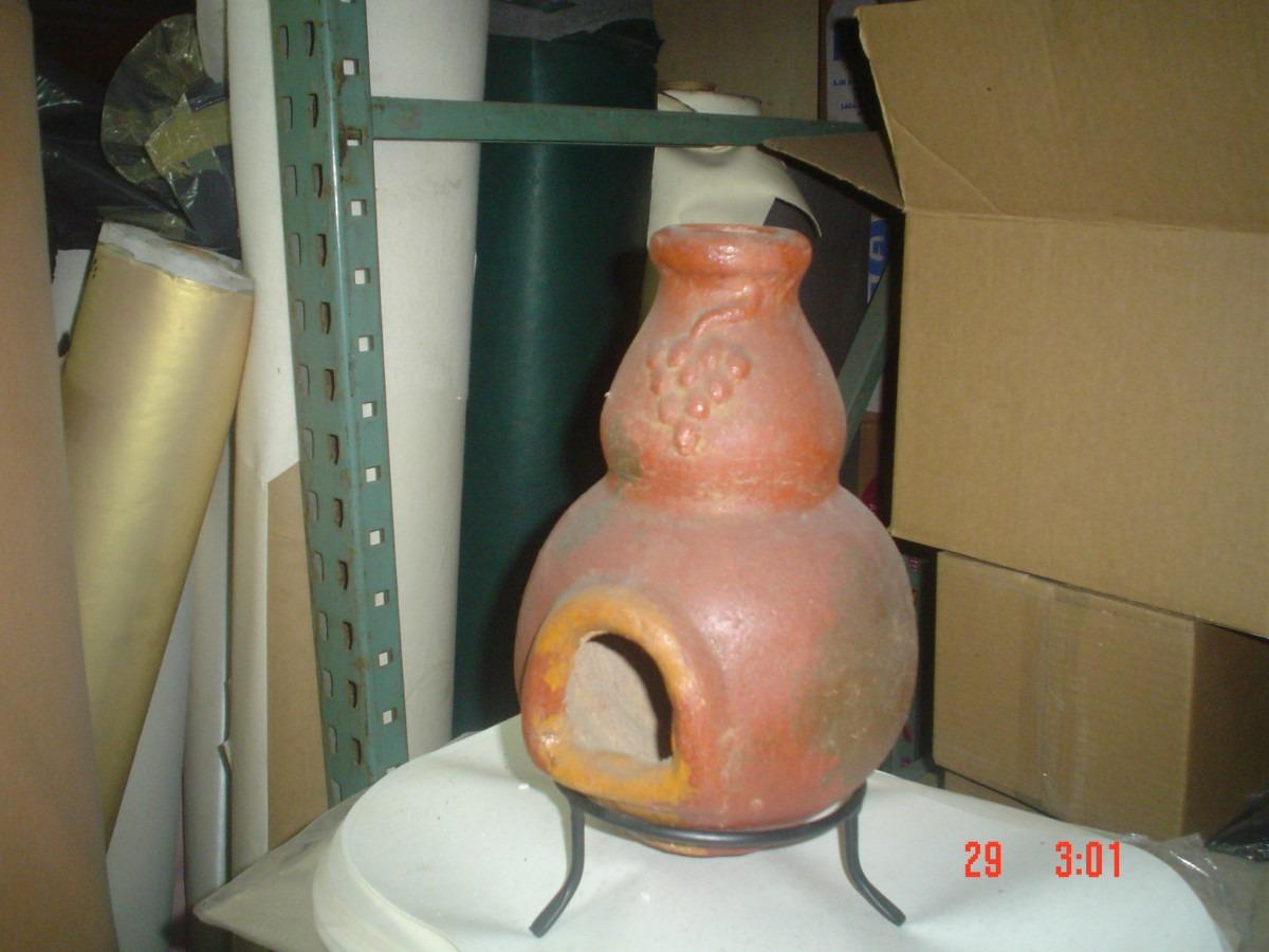 Chimeneas de barro hechas a mano 28 cms altura 99 - Chimeneas de barro ...