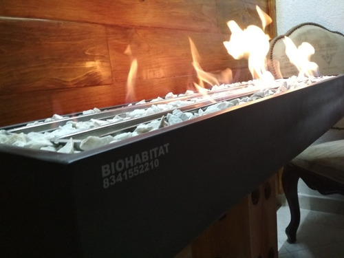 chimeneas doble quemador acero inoxidable