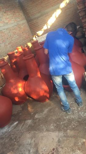 chimeneas rusticas de barro de leña decorativas envio gratis
