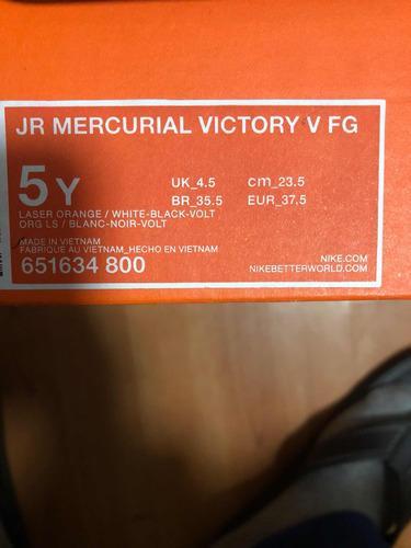 chimpunes nike mercurial victory v fg orange niño talla 37.5