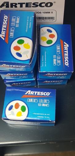 chinches de colores x 100 und. preciox 15 cajitas