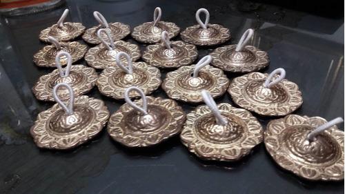 chinchines árabes marca g.g. castañuelas de bronce decorat