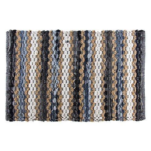 chindi 2x 3  variegated área alfombra de trapo reciclado al