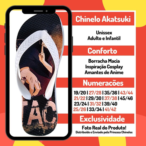 chinela akatsuki chinelo kit envio 24 hr shinobi geek naruto