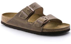 calzado outlet en venta cómo comprar Chinela Sandalia Birkenstock Arizona Cuero Goma - Mcch26052