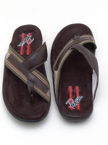 chinela sandália masculina couro legítimo confortável :