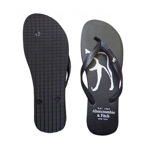 chinelo abercrombie & fitch preto