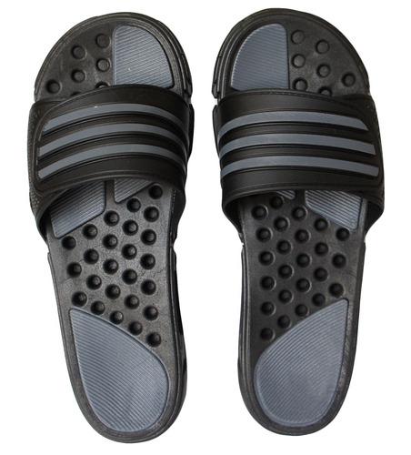chinelo adidas borracha sem dedo - ma1250 preto/cinza