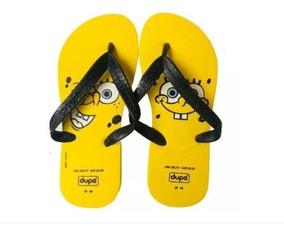 ef56a9982d83b1 Chinelo Bob Esponja Personalizado Amarelo Dupé # Clique+