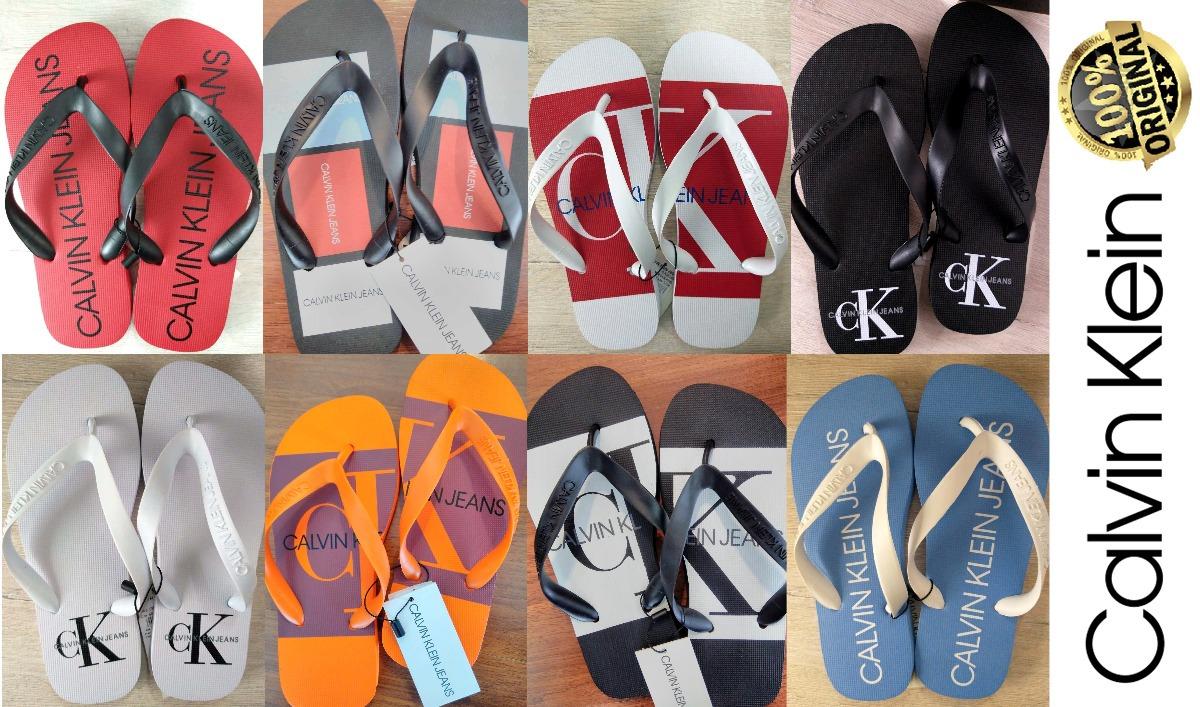 9dd71384f Chinelo Calvin Klein (opções/cores) 100% Original Com Nf - R$ 79,00 ...
