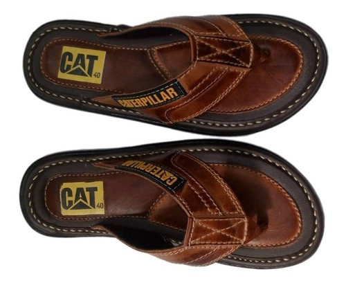 chinelo cat  masculino sandalia em couro  so hoje