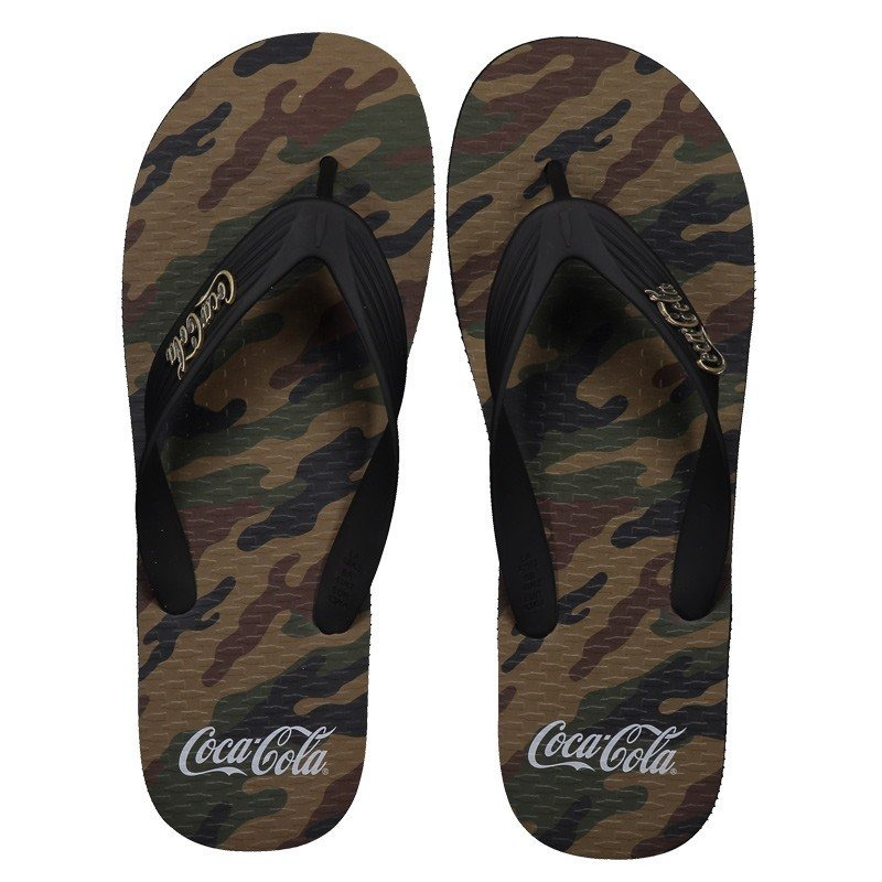 a85a91cbf chinelo coca cola jungle preto e verde. Carregando zoom.