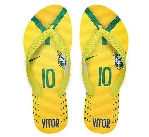 36641028d53cb Chinelo Copa Do Mundo Camisa Da Seleção Cdm1 - Kit 30 Pares - R  299 ...