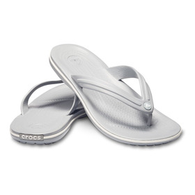 Chinelo Crocs Flip Unissex Ligth Grey Original