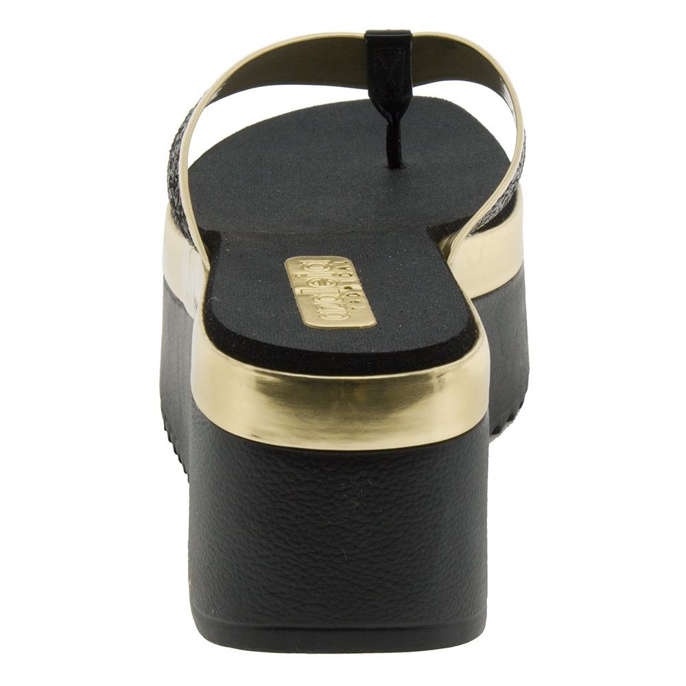 90eff835b Chinelo Feminino Anabela Preto Azaleia - 248 - R$ 29,99 em Mercado Livre