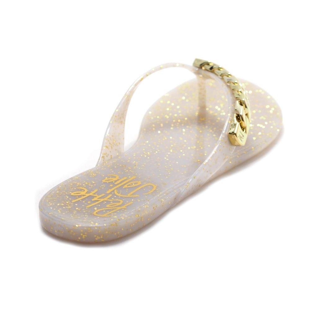 3bf043c47 chinelo feminino corrente lastic glitter branco petite jolie. Carregando  zoom.