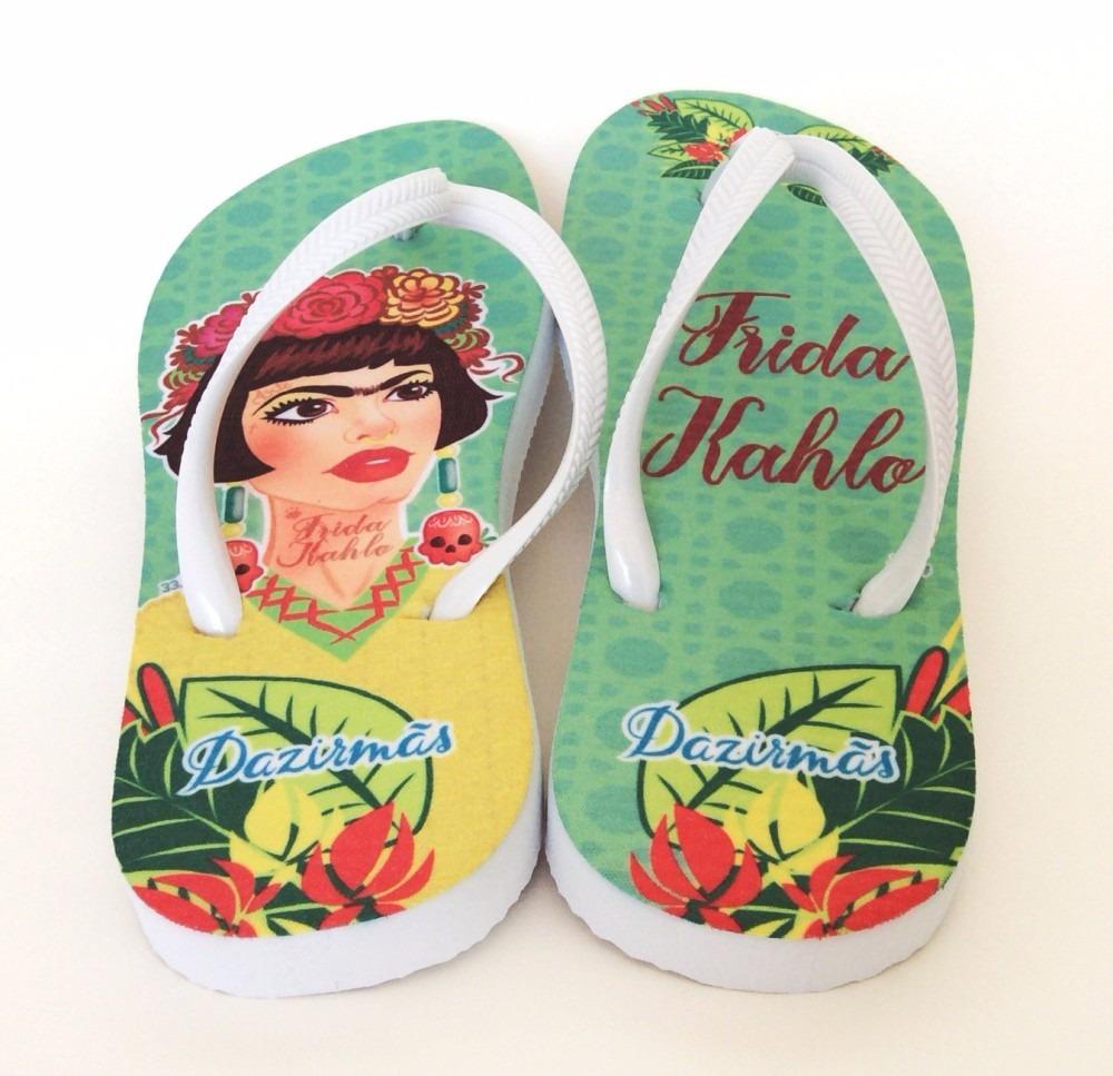 5298d87e5 Chinelo Feminino Frida Kahlo Personalizado - R$ 39,90 em Mercado Livre