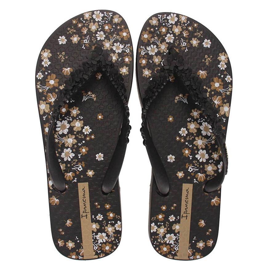 chinelo feminino ipanema fashion floral - preto. Carregando zoom. 151eece6d6a4b